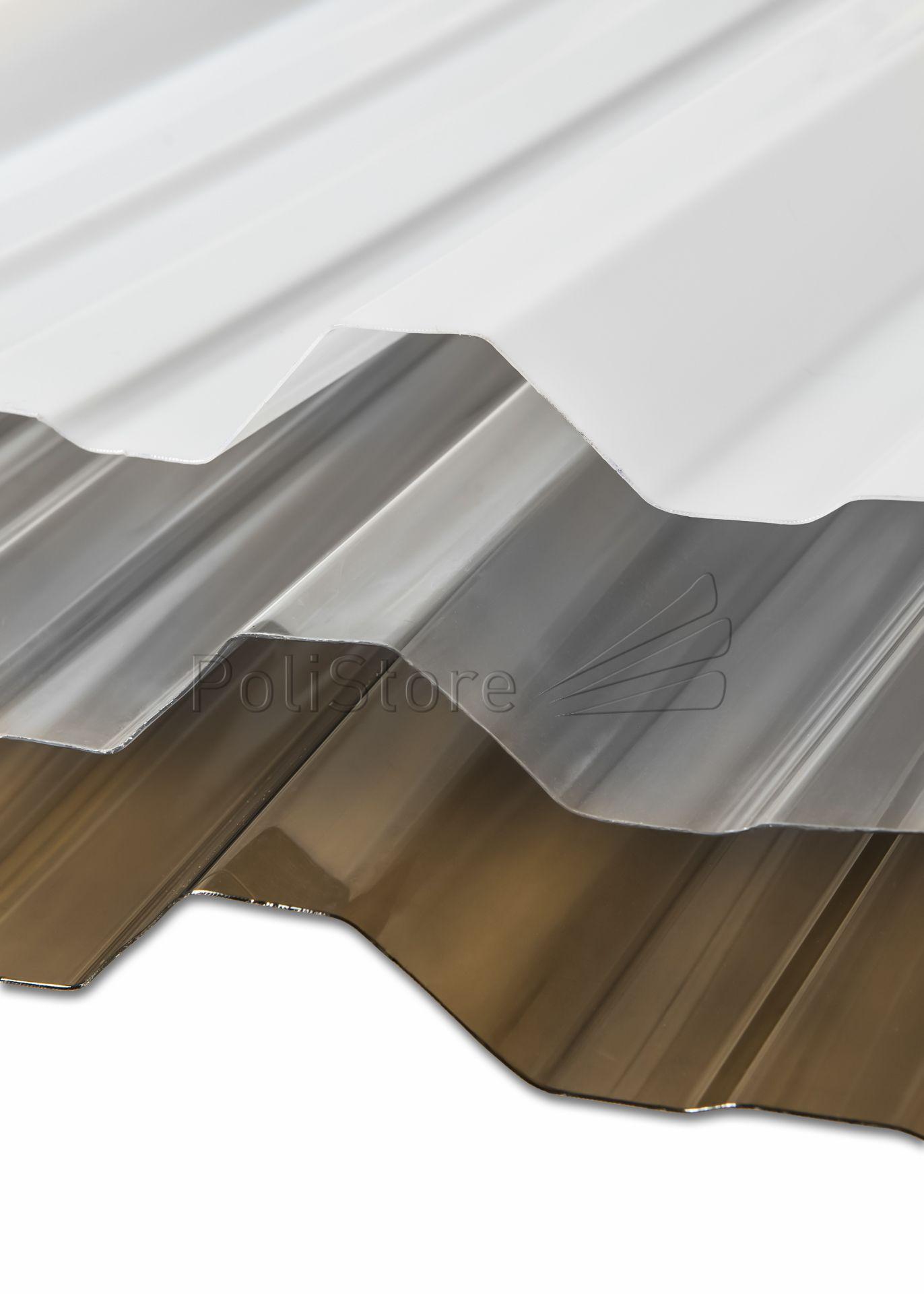 Chapa de Policarbonato Trapezoidal T101 0.8 mm